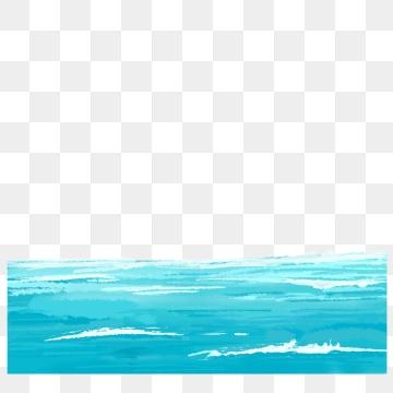 Ocean Watercolor PNG Images.