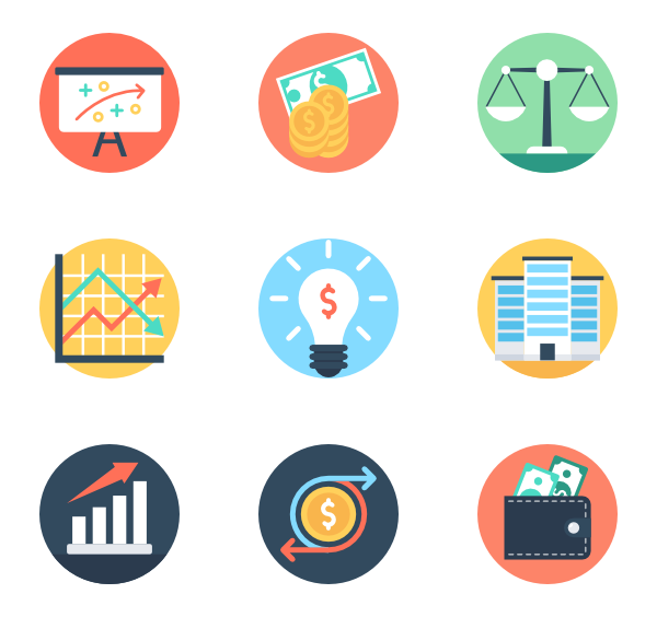 Market and Economics 50 free icons (SVG, EPS, PSD, PNG files).