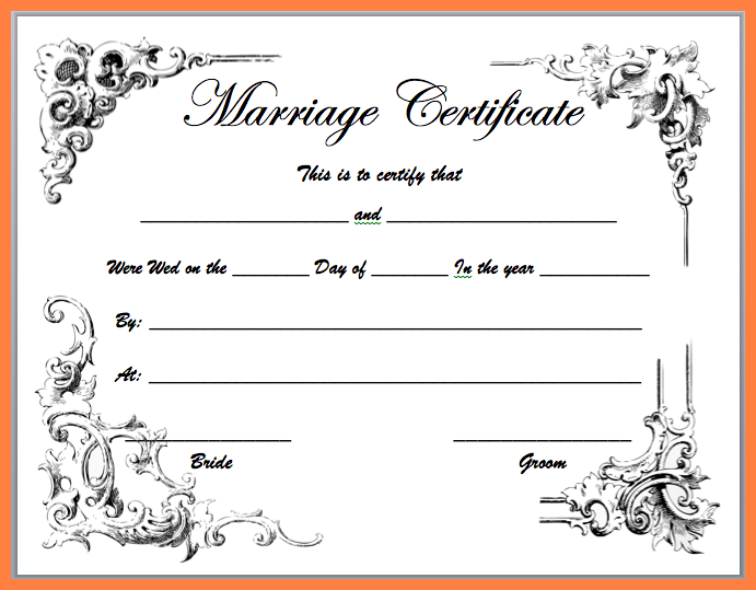 5+ free marriage certificate templates.