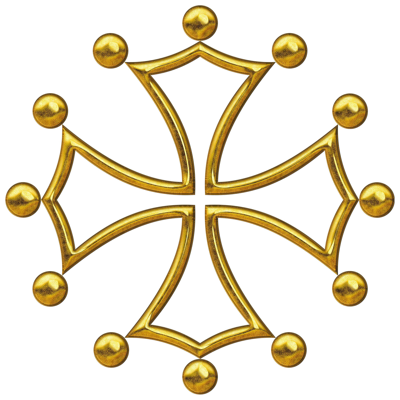 Occitan Cross, computer generated image.