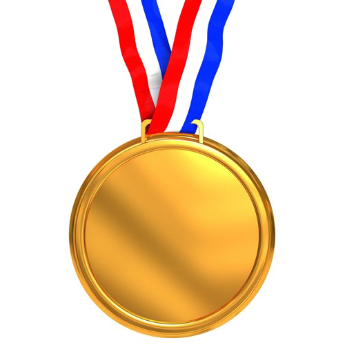 Gold Medal PNG Picture.