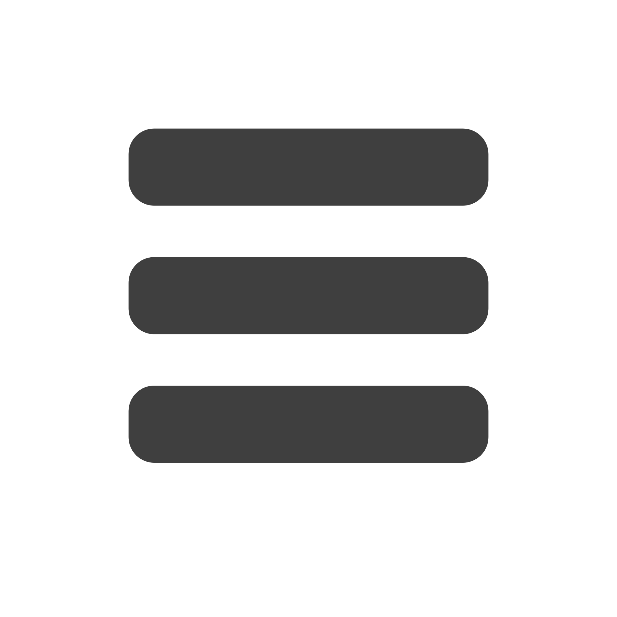 Grey Menu Icon transparent PNG.