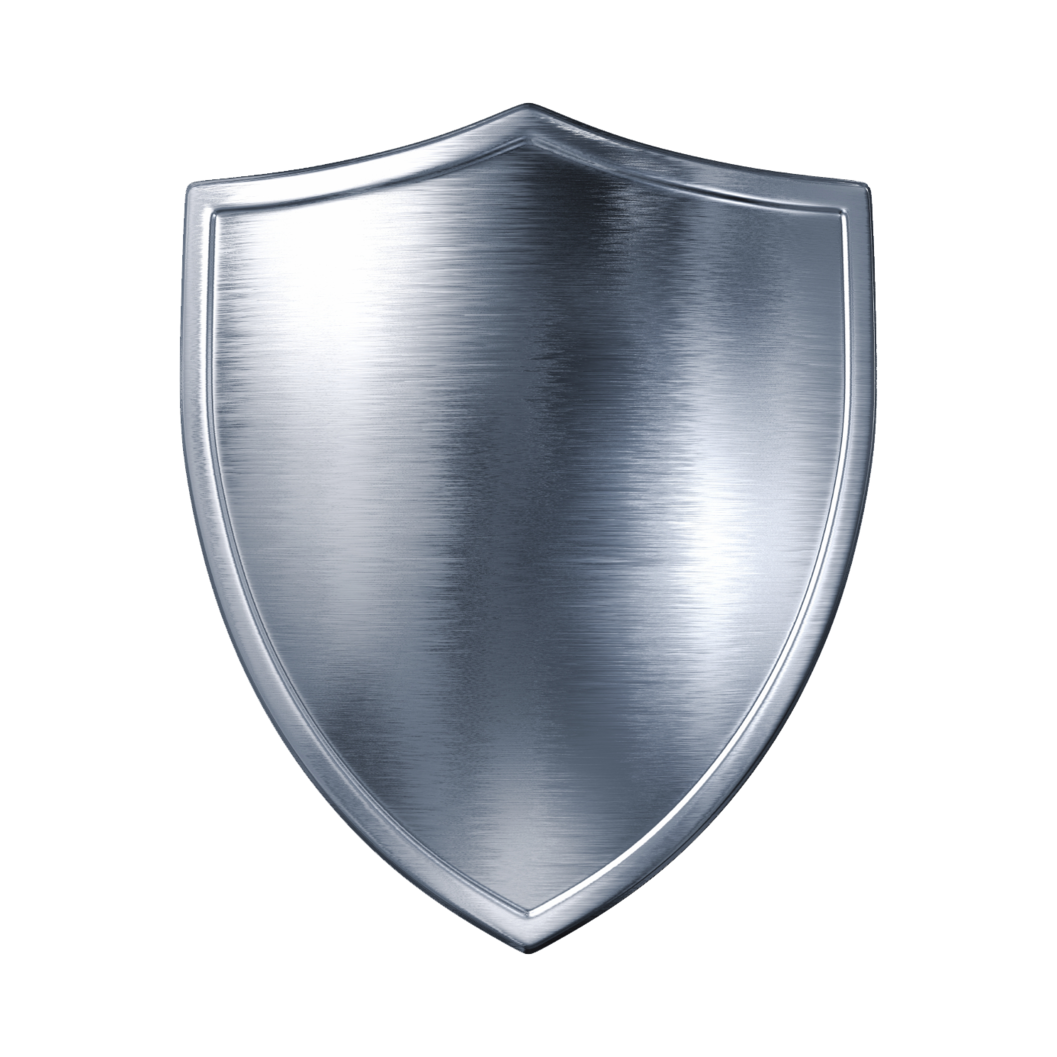 Silver Sheild PNG Image.