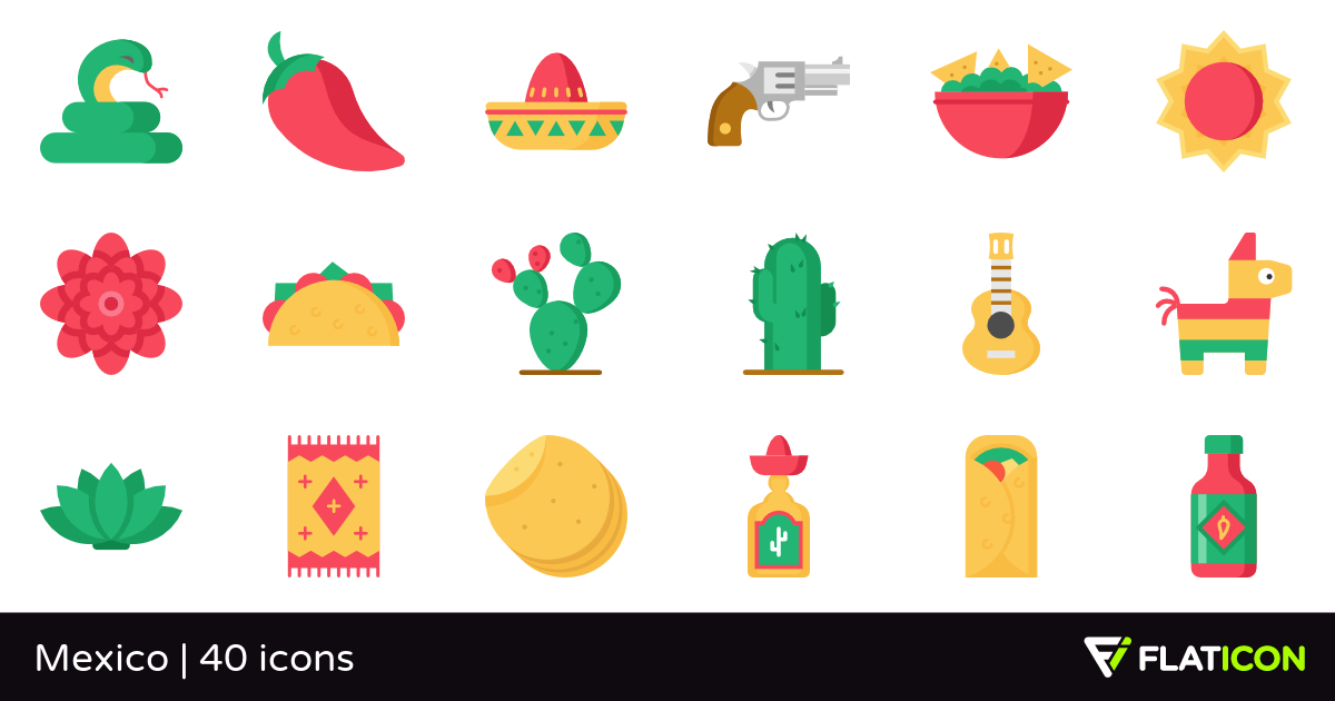 Mexico 40 free icons (SVG, EPS, PSD, PNG files).