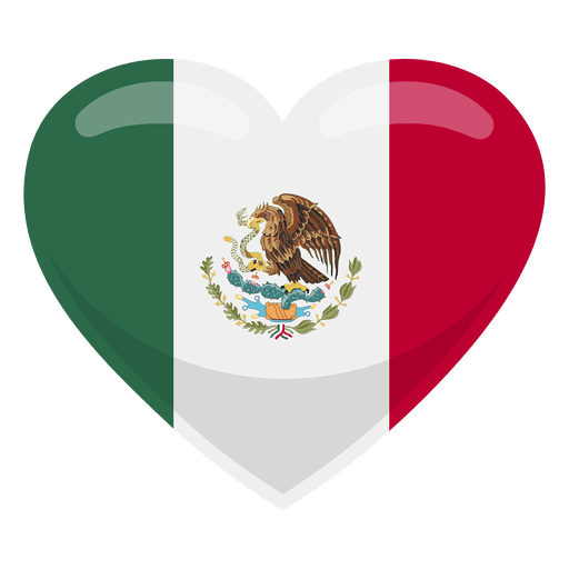 Mexico heart flag.