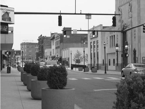 Downtown Middletown, Ohio.