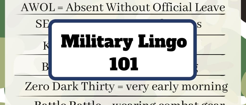 Understanding Complex Military Lingo.