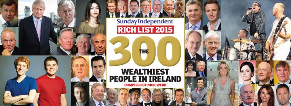 Sunday Independent Rich List 2015.