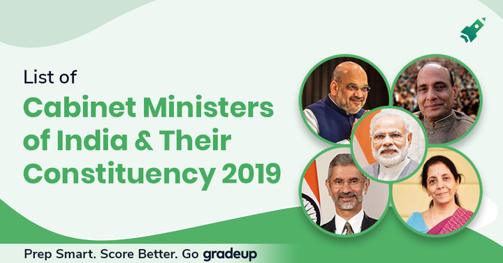 List of Cabinet Ministers of India 2019 and Their Departments.