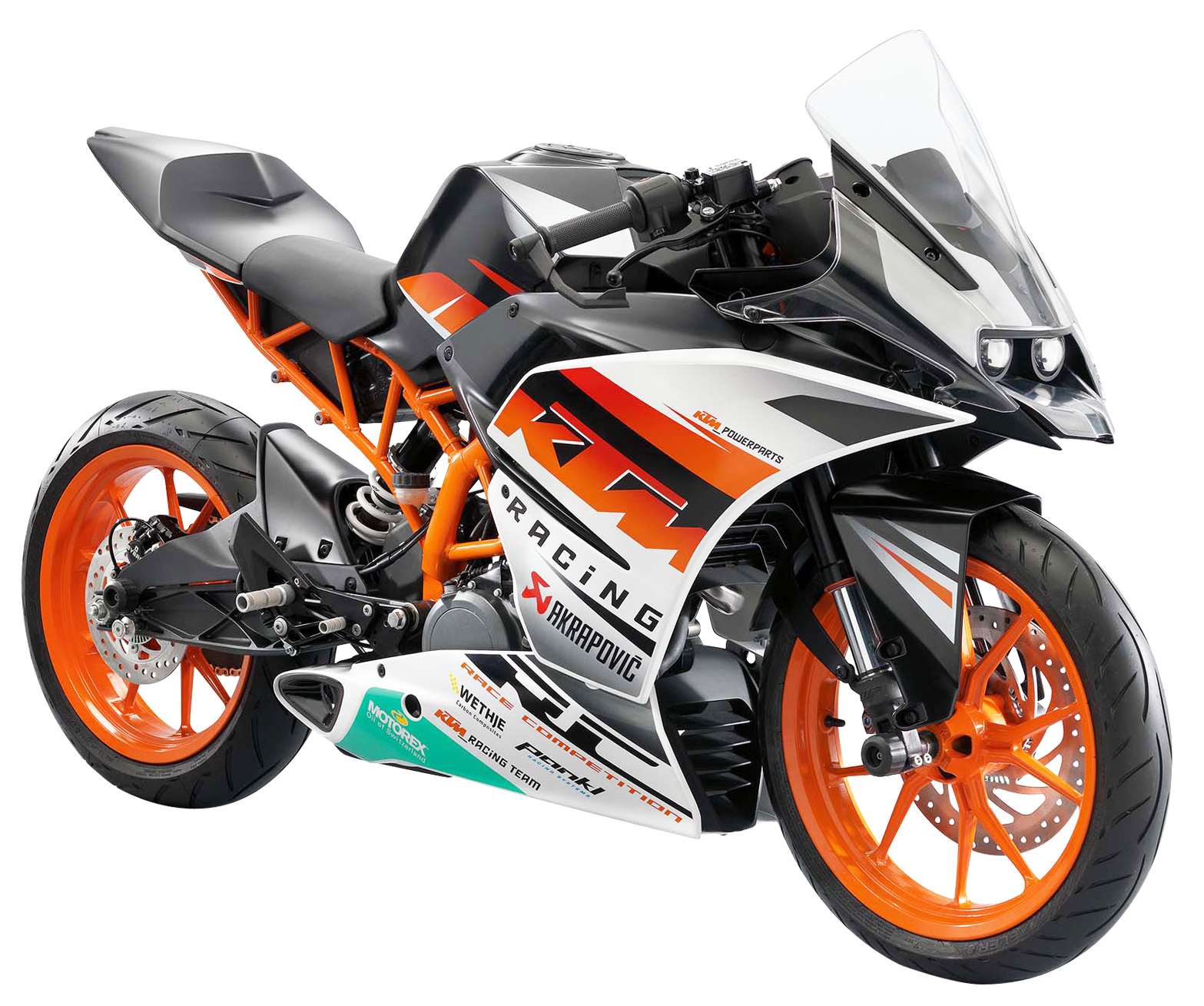 KTM RC390 Motorcycle Bike PNG Image.