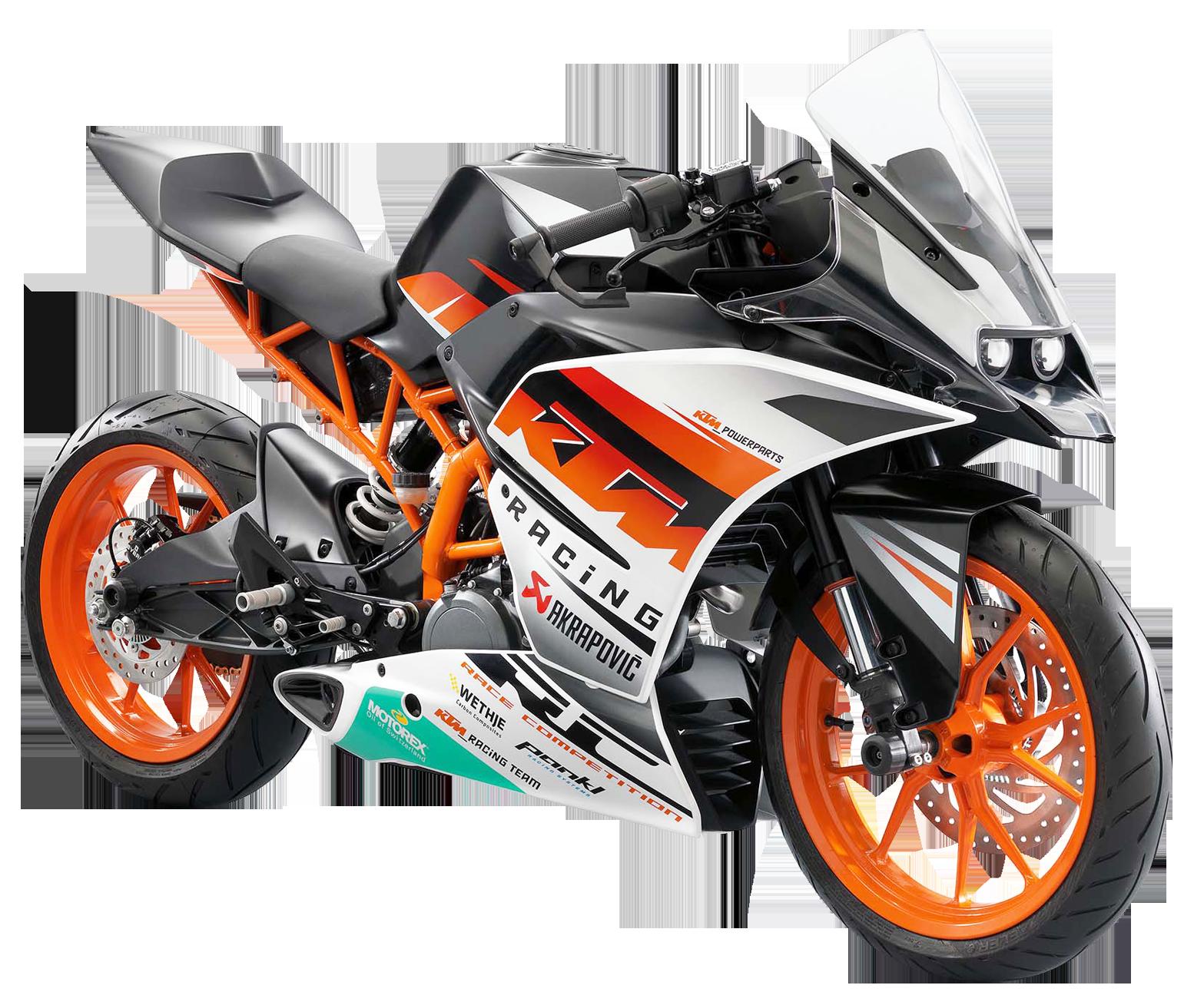 KTM RC390 Motorcycle Bike PNG Image.