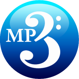 MP3 blue Icon.