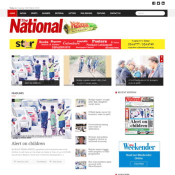 thenational.com.pg at WI. PNG\'s Number One Daily Newspaper.