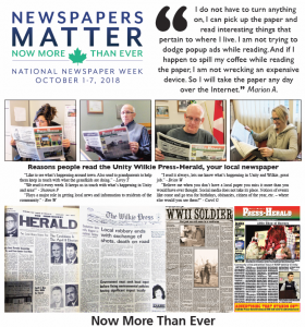 Send us your stories of success from National Newspaper Week.
