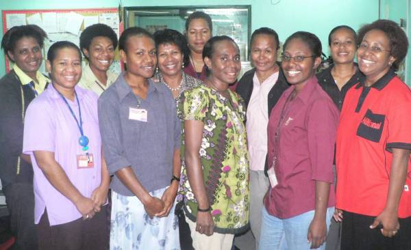 2007 editorial female staff of The National newspaper.