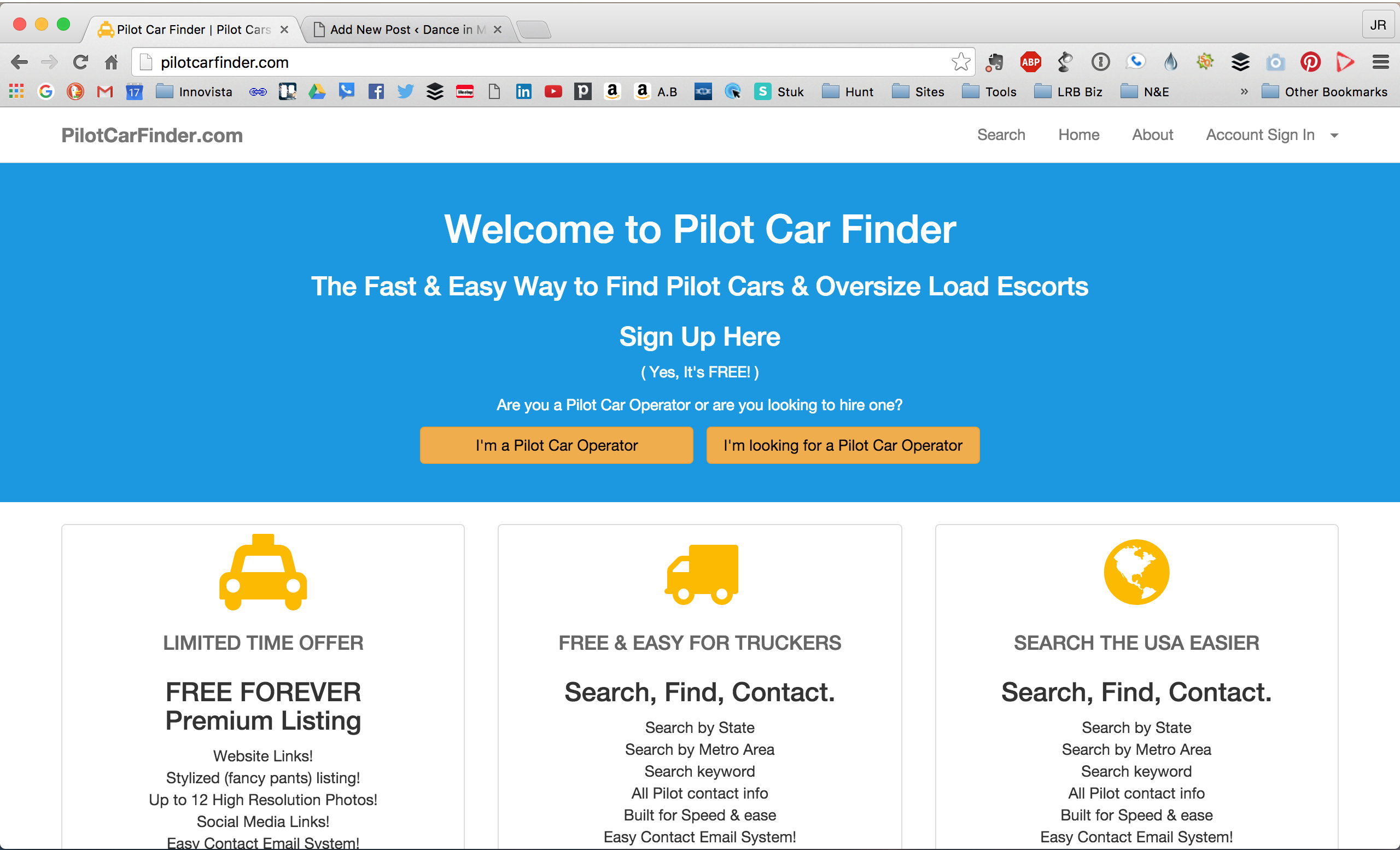 How to create a nationwide pilot car directory and have it.
