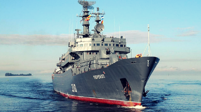 Russian warship to dock in POM.