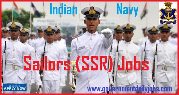 INDIAN NAVY RECRUITMENT 2018 OF 2500 SSR SAILORS POSTS.
