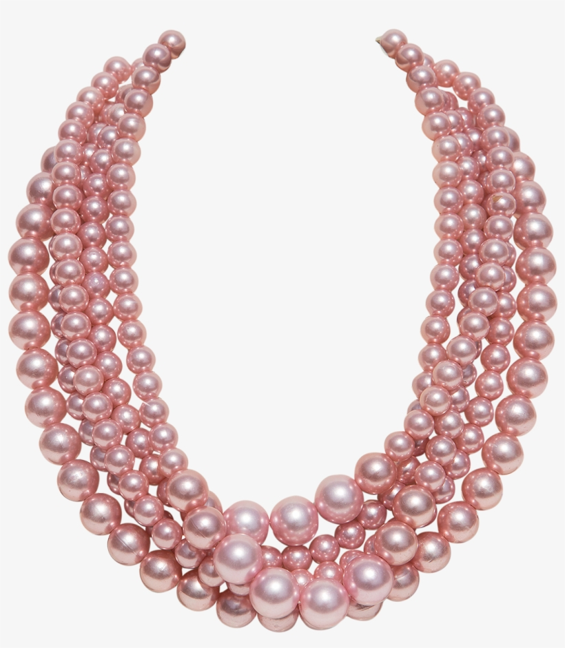 Pink Pearl Necklace Png Freeuse.