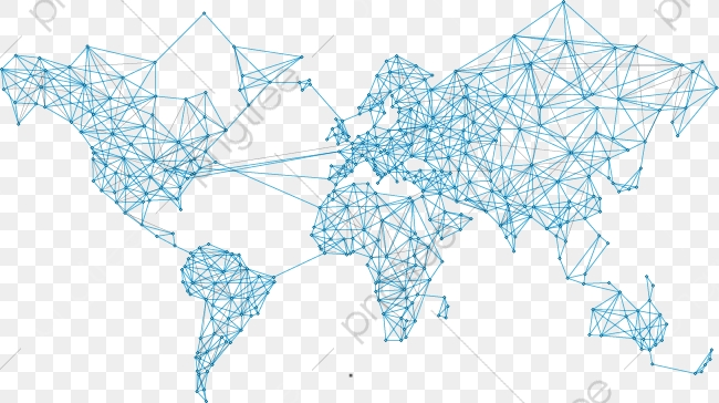Global Network Map, Network Vector, Map Vector, Map PNG.