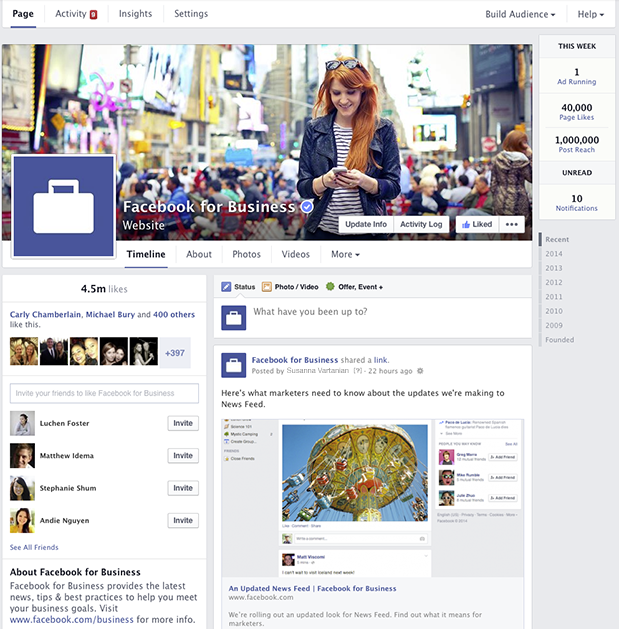 4 New Updates to Facebook Business Pages.