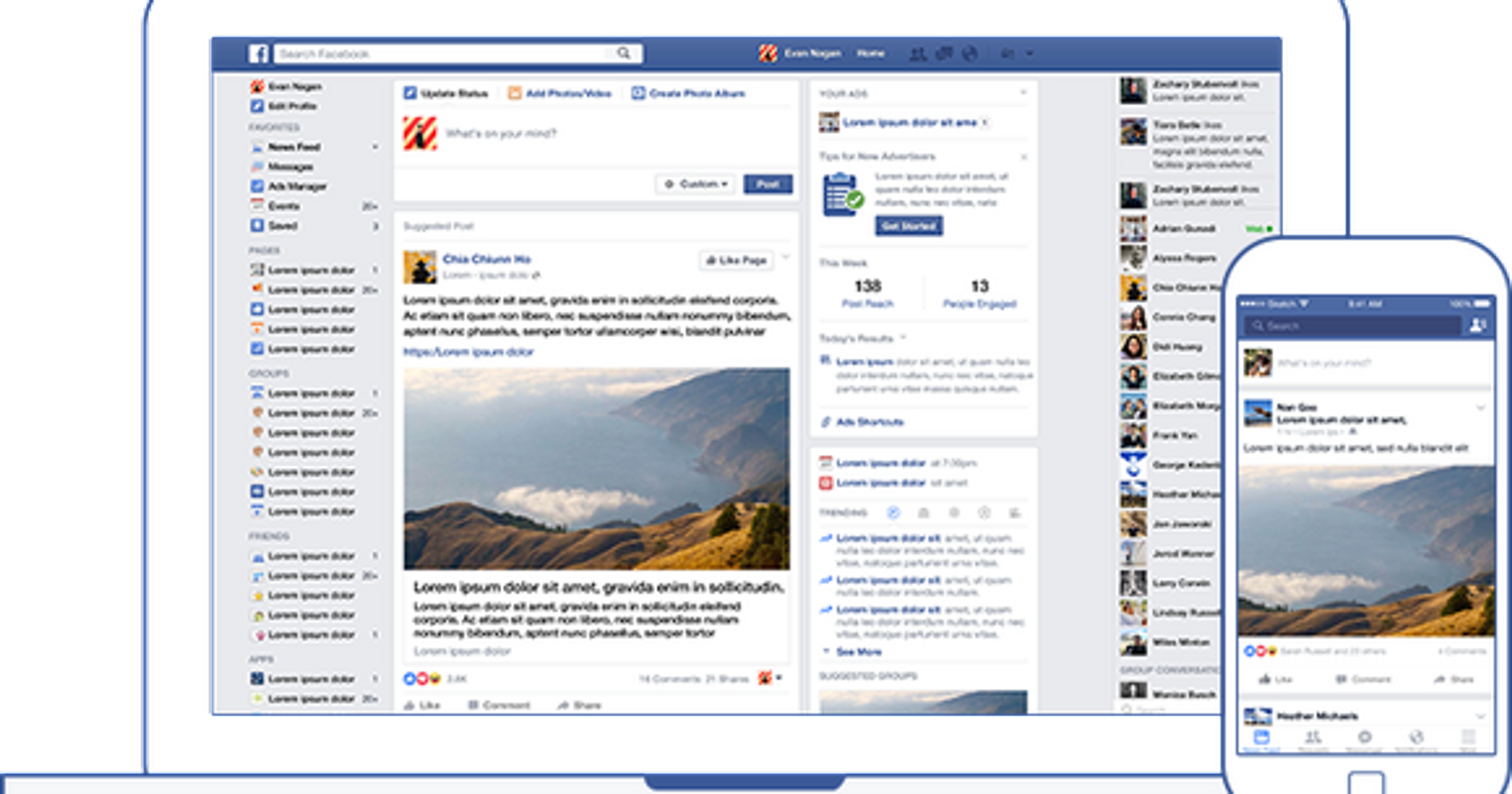 Facebook news feed: The giant social network is making a big.