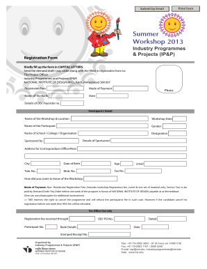 Fillable Online nid Registration Form.