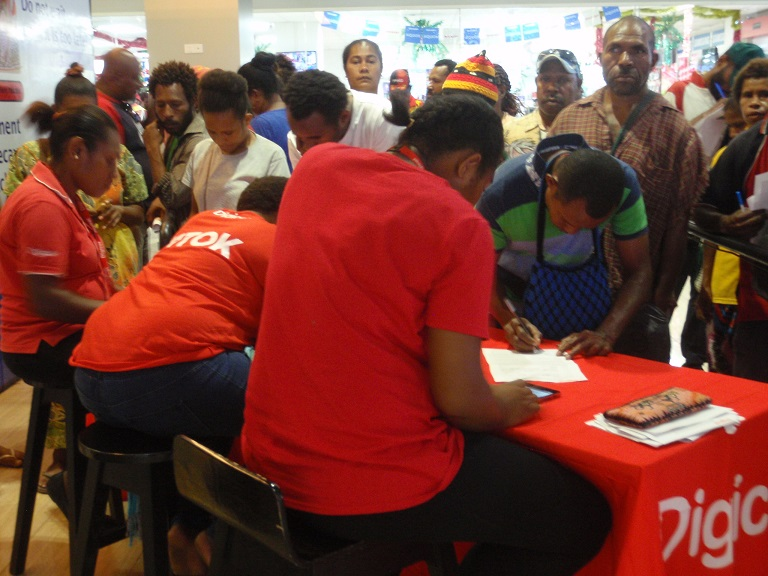 Compulsory SIM card registration in Papua New Guinea.