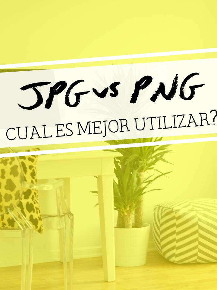 JPG o PNG, Cual es mejor utilizar?.