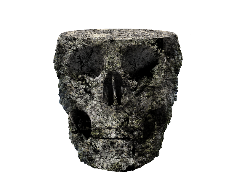 Stone Skull Island PNG Free (Isolated.