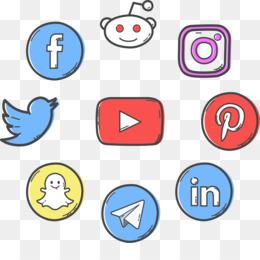 Social Media Icons PNG.