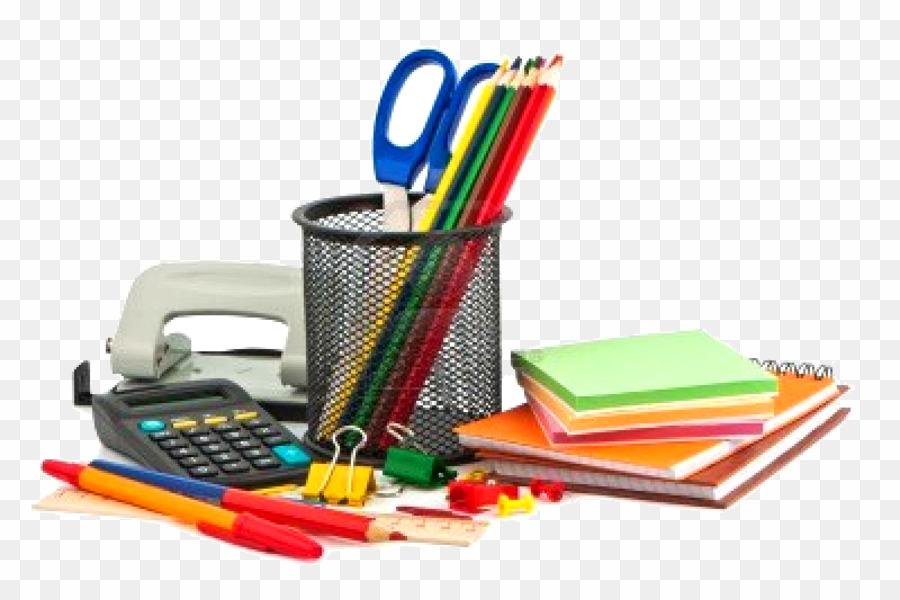 Office Stationery PNG Stationery Office Supplies Clipart.
