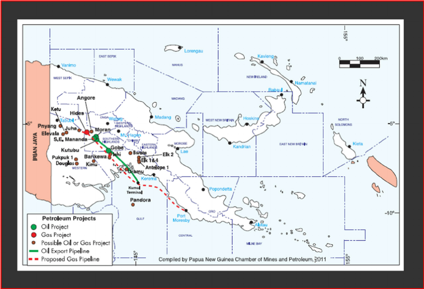 Map showing Kutubu oil fi elds and other existing and.
