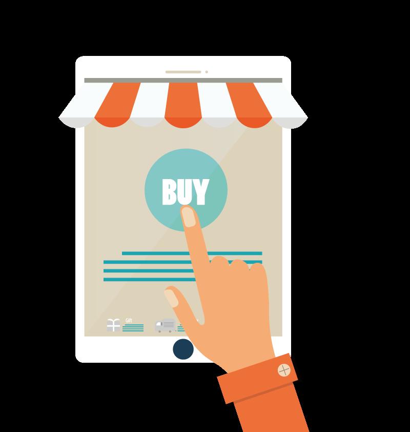 Online shopping Illustration.