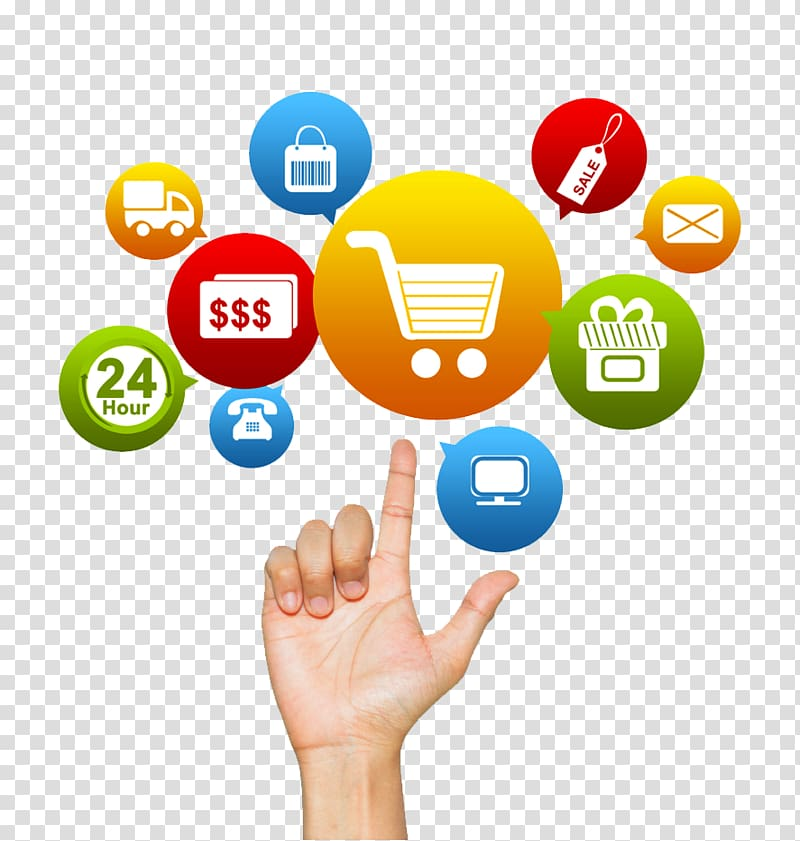 Shopping cart illustration, Marketing Essentials Marketing.