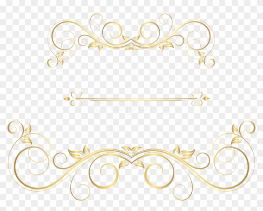 Free Png Download Gold Ornaments Decorative Clipart.