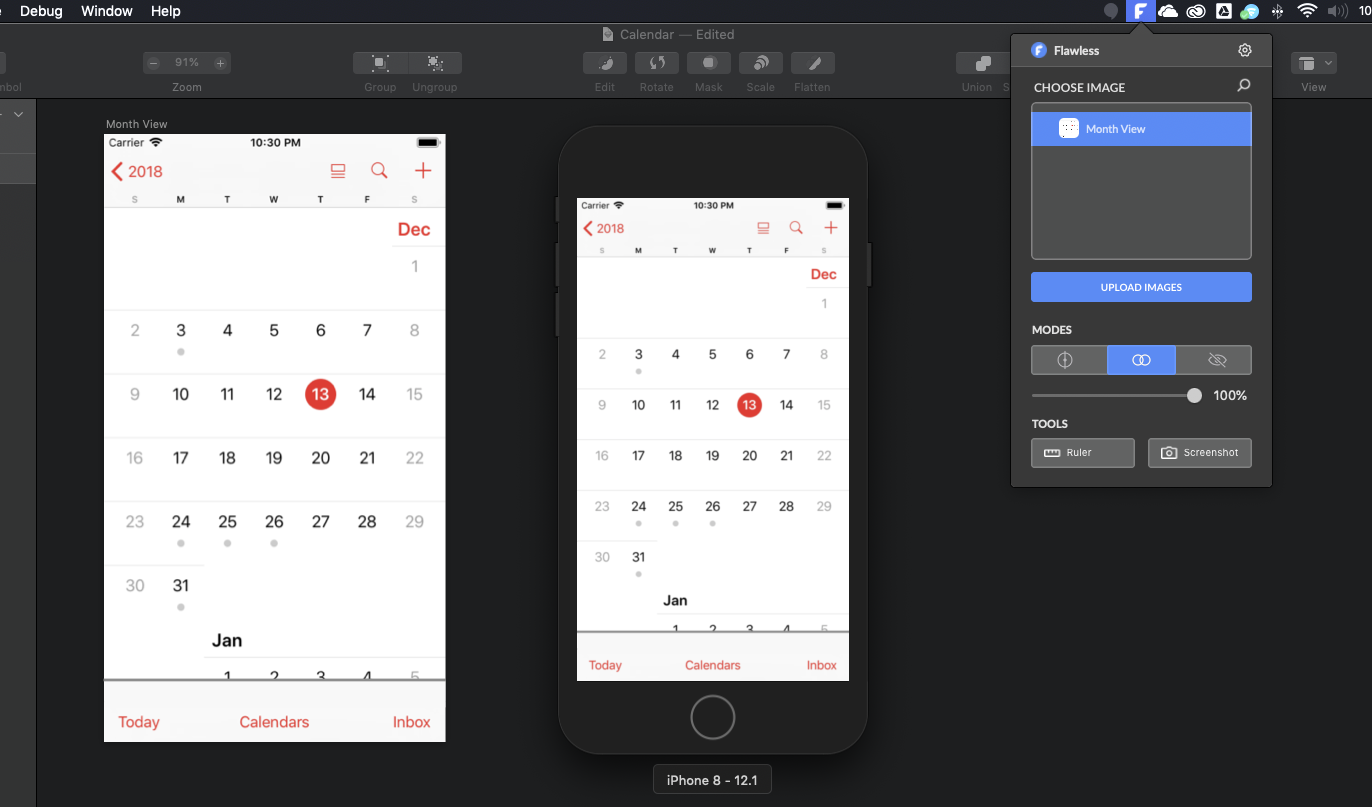 Flawless App iOS Overlay Tool.