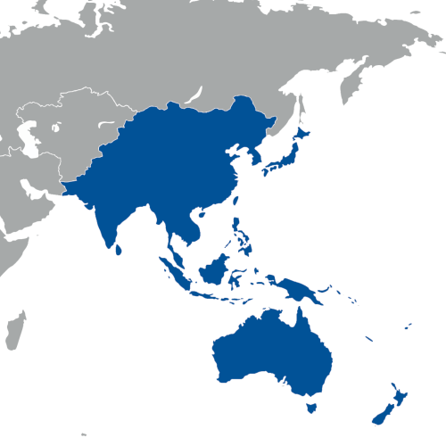 South East Asia and the Pacific Islands.
