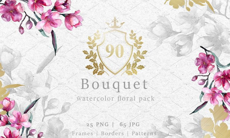 Download Bouquet of pink flower PNG pack Free.