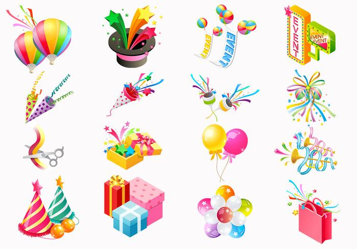 Party Icon PSD and PNG Pack.