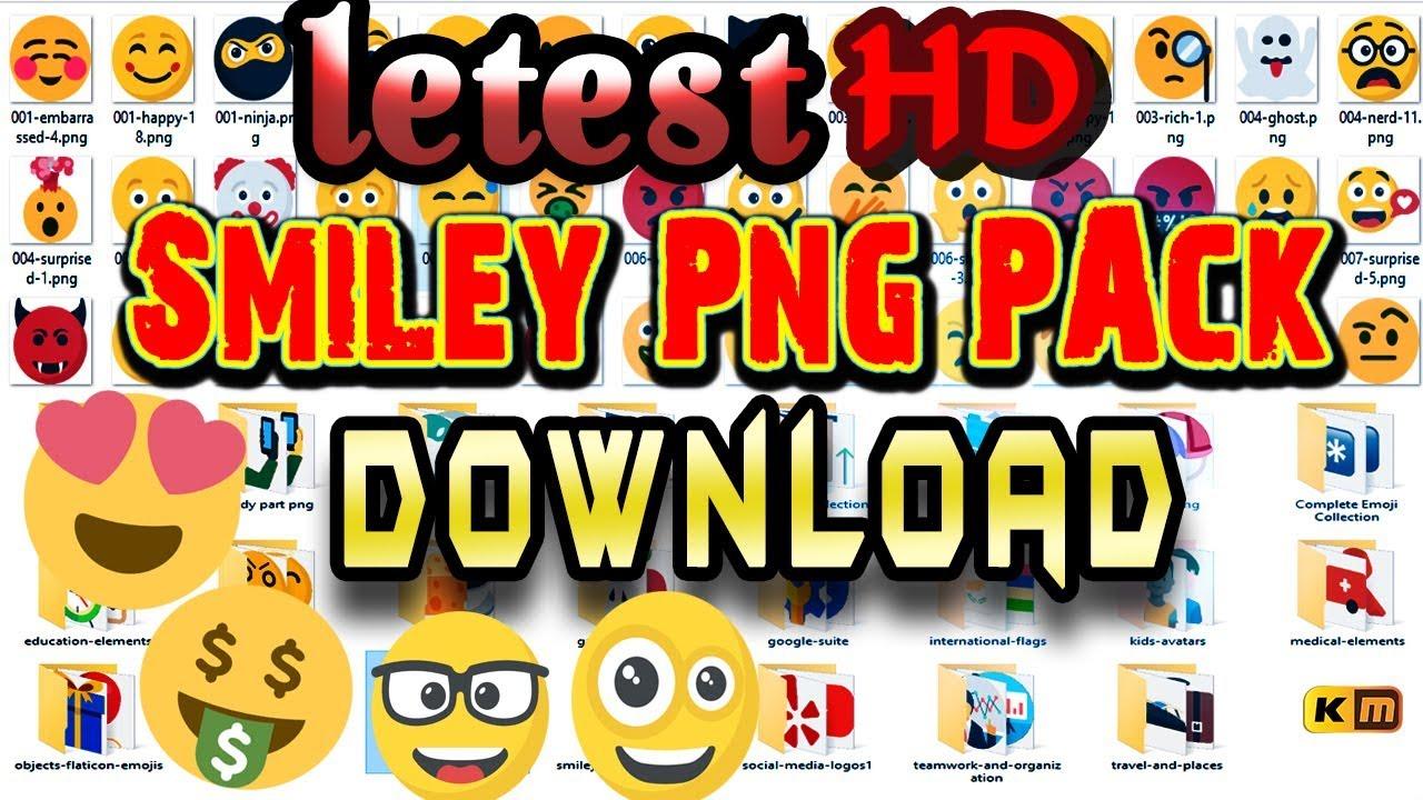 Letest Emoji/Smiley Png Pack Free Download..