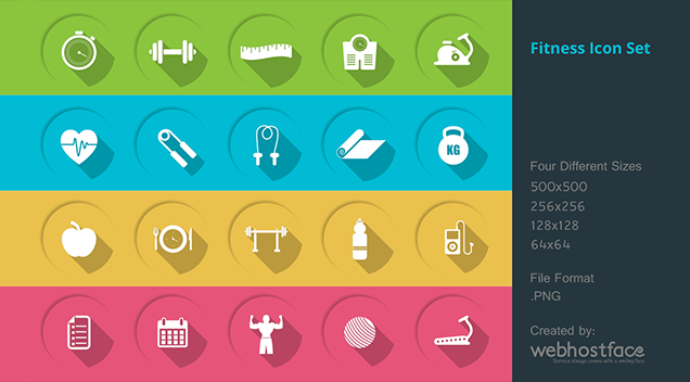 Free health and fitness icons.
