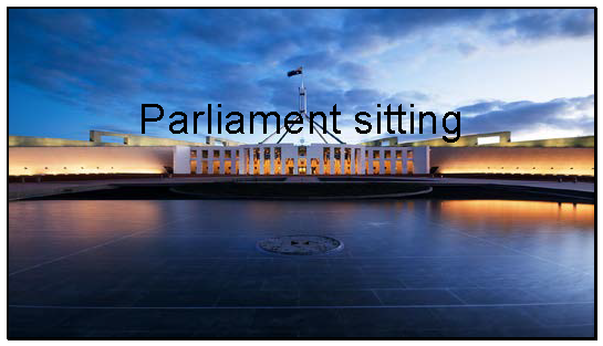 Parliament Session Term 2 2018.