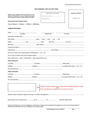 Fsm passport application form.