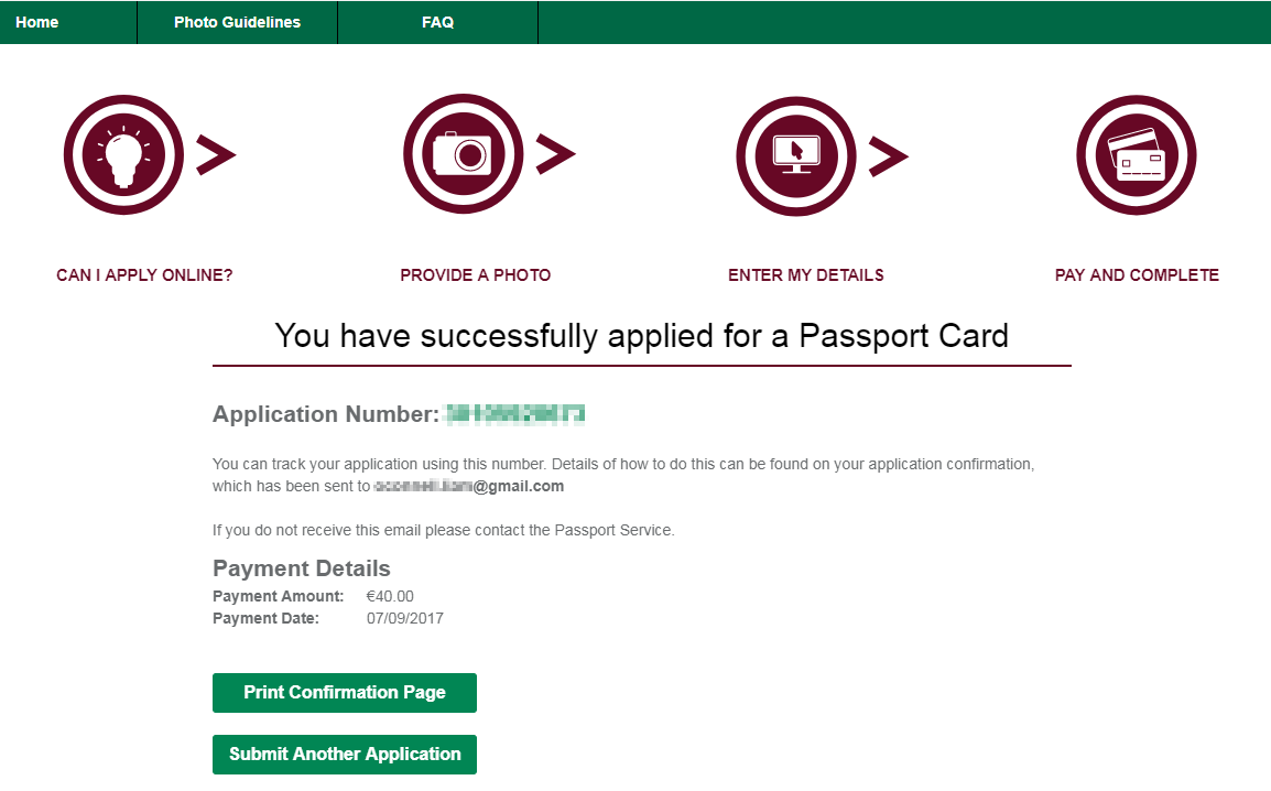 Have you applied for your Irish Passport card? I have..