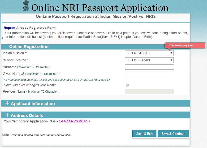 How to Apply Online for an Indian Passport in Qatar.