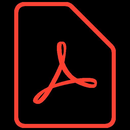 File, expand, pdf, adobe Icon Free of Filetypes icons.
