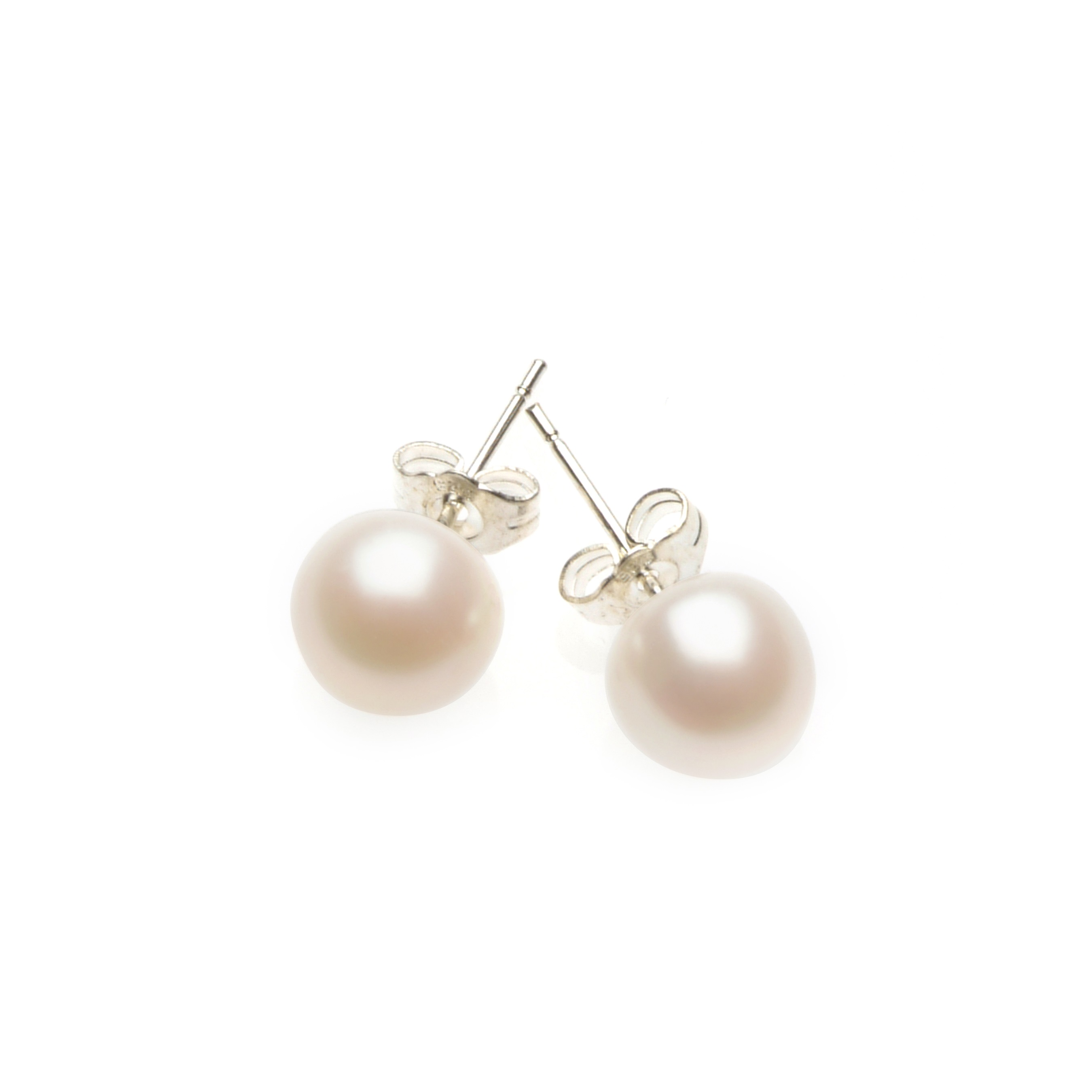 Ivory Elegance Pearl Stud Bridal Earrings.
