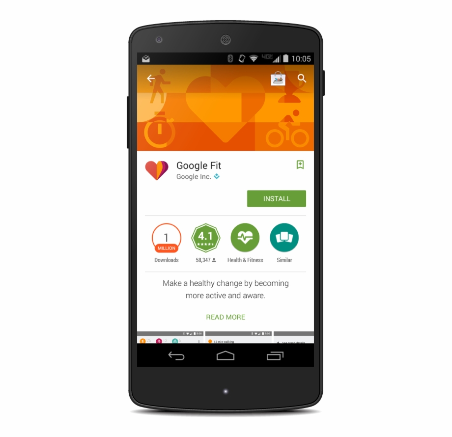 Google Fit Banner In Play Store.