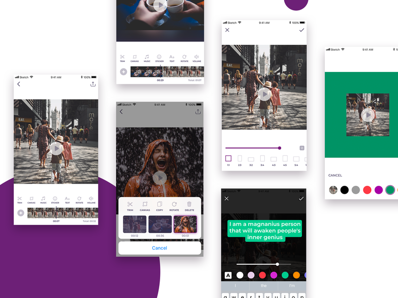 Mobile Video Editing App by Yulia Sariyeva on Dribbble.